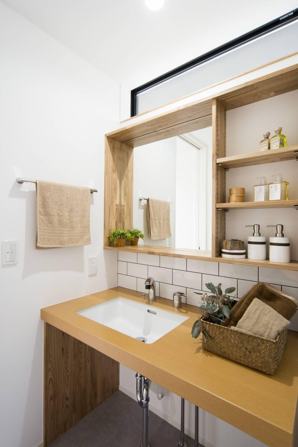 毎日の身支度が楽しくなる、こだわりの洗面スペース