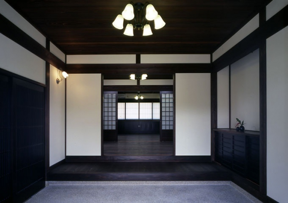富山_木の家_玄関施工事例