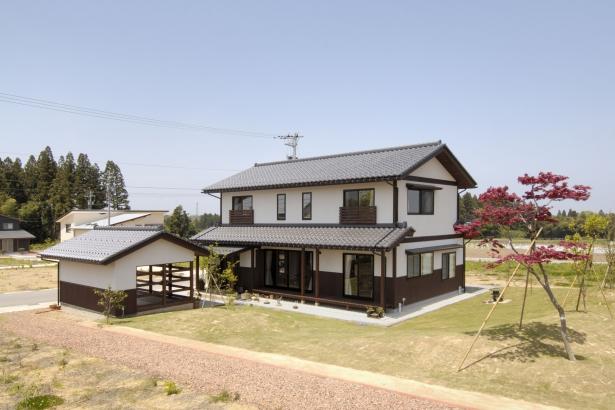 外観 富山木の家 北岡工務店