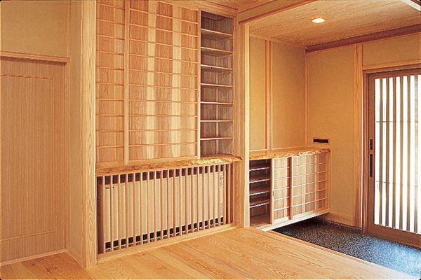 玄関 富山市木の家 北岡工務店