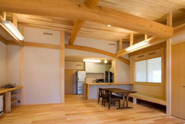 リビングダイニング 富山木の家 北岡工務店
