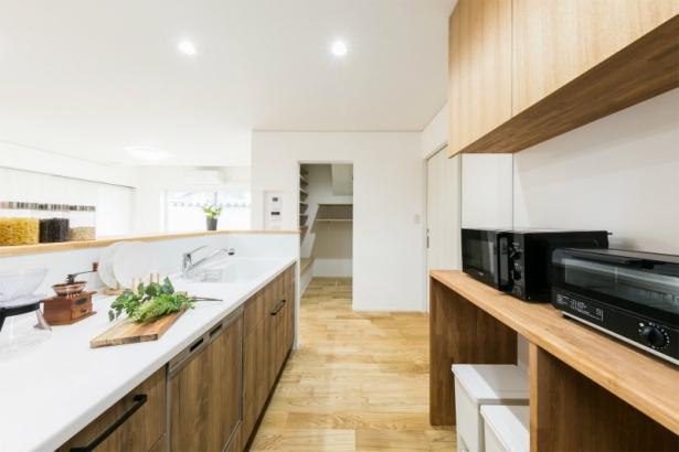 居心地も収納もゆとりの38坪 ダブル断熱の家 キッチン