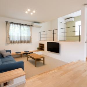 富山市塚原第一展示場『スキップフロアと床下収納がある家』