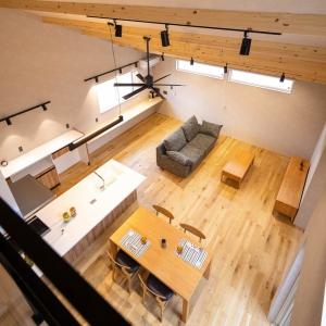 1階で生活動線が完結するほぼ平屋のような間取り。