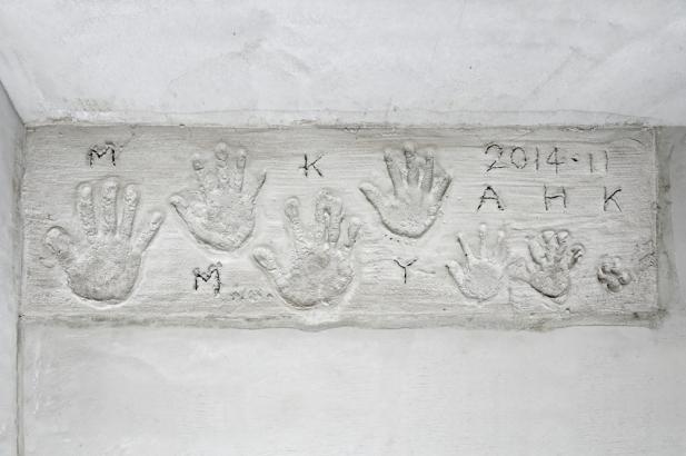 家族の思い出を刻む手形