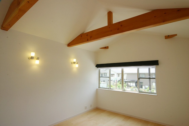 WB工法で自然呼吸の家 寝室
