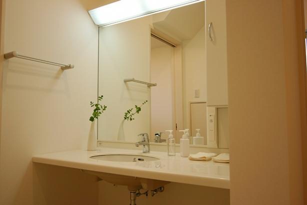 WB工法で自然呼吸の家 洗面室