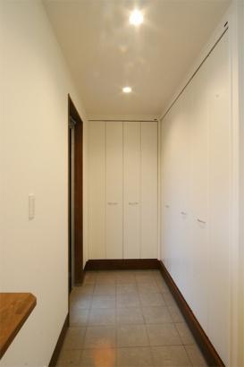 自然素材の家 玄関