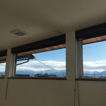 2階の寝室から一望できる山!絶景です。