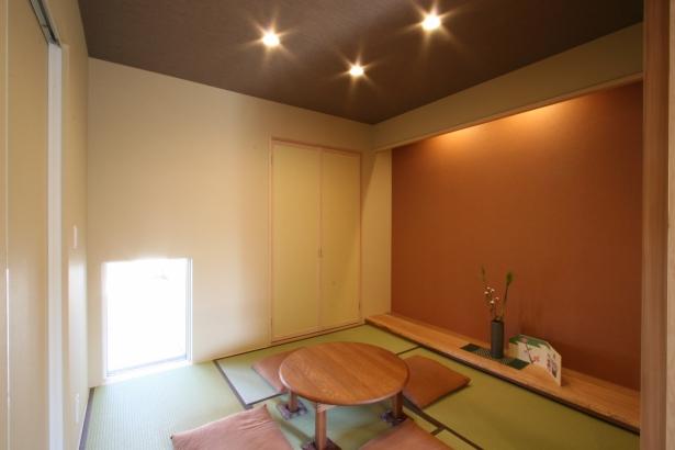モダンな和室は明るい配色に。